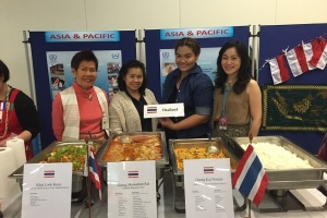 Thai food at the International Luncheon Charity at UN in Vienna