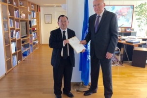 AMBASSADOR OF THAILAND PRESENTED HIS CREDENTIALS TO UNOV