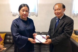 Donation for Flood Relief Efforts in Lao PDR