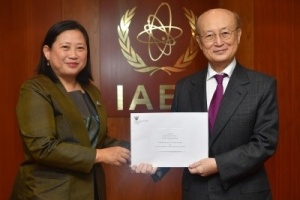 Ambassador Morakot Sriswasdi presented her credentials to the Director General of the International Atomic Energy Agency (IAEA)