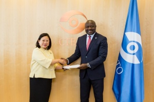 Ambassador Morakot Sriswasdi presented her credentials to the Executive Secretary of the Comprehensive Nuclear-Test-Ban Treaty Organization (CTBTO)